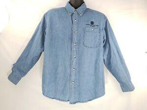 Caesar-039-s-Palace-Las-Vegas-Casino-Denim-Button-Front-Shirt-Medium-Long-Sleeve