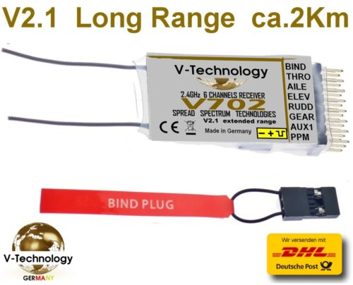 Empfänger V702 für DSMX DSM2 Spektrum ca G83 1800m Full Range Receiver