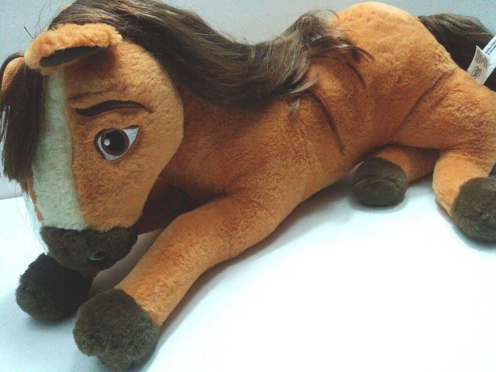 Nuevo libre de montar a caballo de grandes Peluche Spirit MultiColor Figura Set Caballo Spirit Muñeca