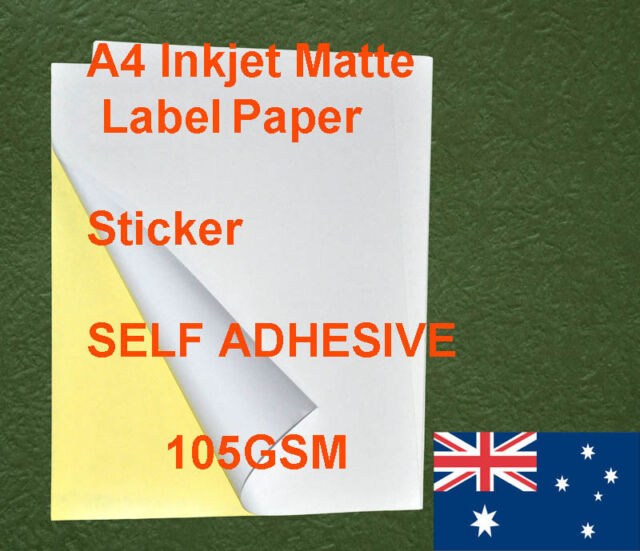 40 sheets A4 105GSM Inkjet and Laser Matte Label Paper Adhesive and other