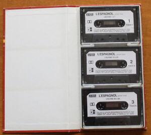 VINTAGE-K7-audio-L-039-ESPAGNOL-pour-tous-Coffret-3-Cassettes-audio