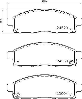 5 YEAR WARRANTY Mintex Front Brake Pad Set MDB2882 GENUINE BRAND NEW