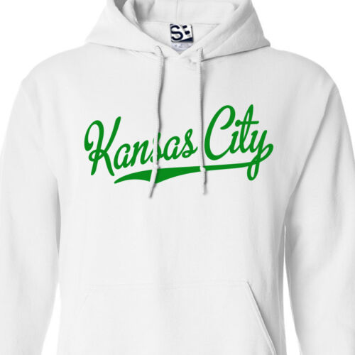 Hooded KC KCK Baseball Champions Sweatshirt Kansas City Script /& Tail HOODIE