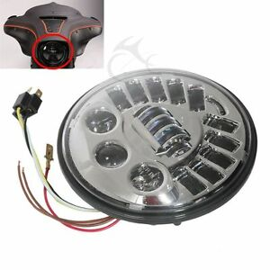 FARO-ANTERIORE-A-LED-PER-HARLEY-DAVIDSON-TOURING-SOFTAIL-DYNA-ELECTRA-CROMO