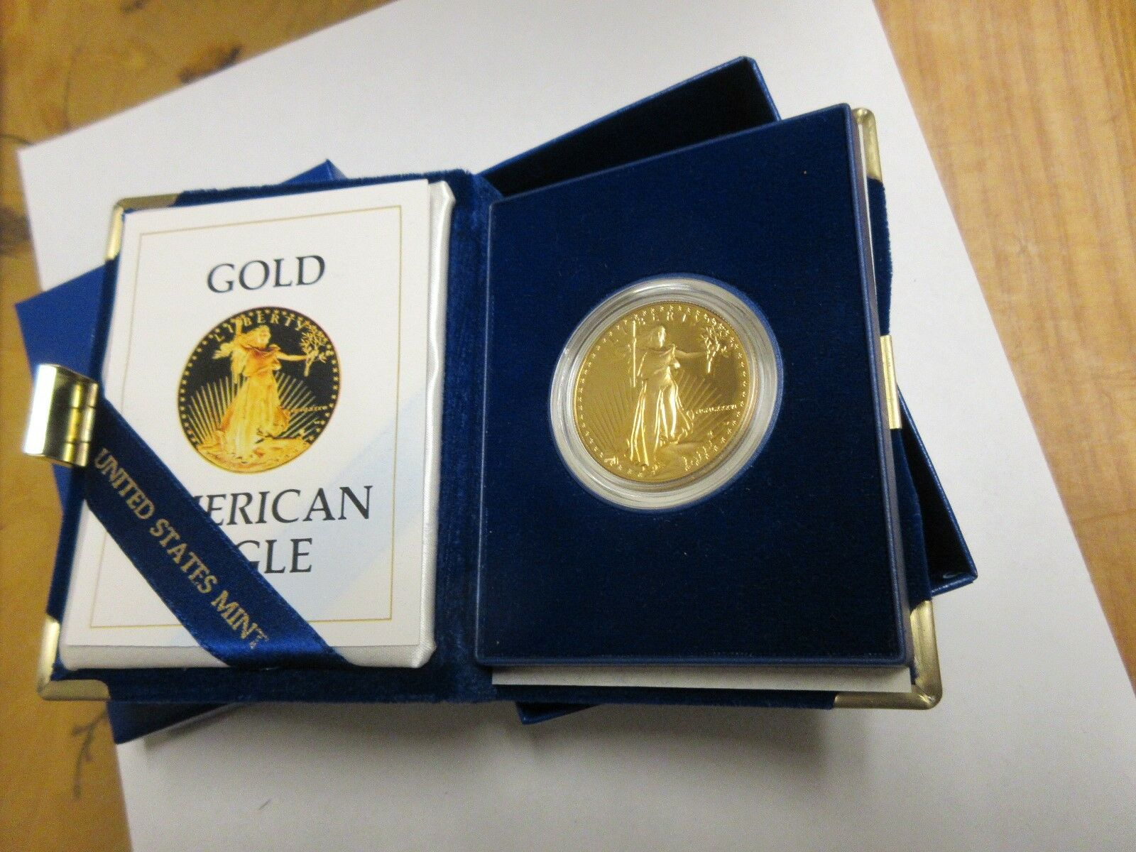 1986 American Eagle Gold Proof One Ounce $50 Gold Bulli