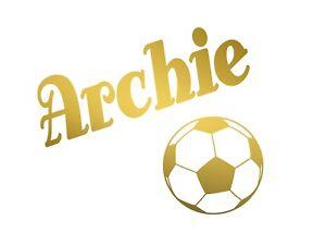 Nome-Personalizzato-amp-Calcio-Wall-Art-Personalizzata-Adesivo-Vinile-Ragazzi-Bambini-Camera-da