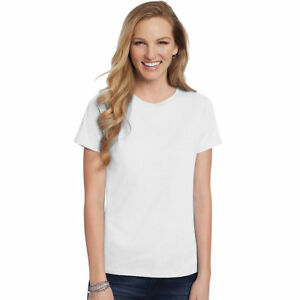 Hanes-Women-039-s-Relaxed-Fit-Jersey-ComfortSoft-Crewneck-T-Shirt-S