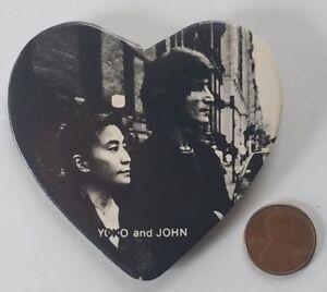 John-Lennon-Beatles-Yoko-Ono-Heart-Shaped-Vintage-Pinback-Button