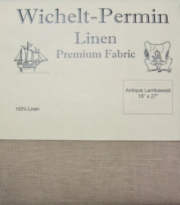 Wichelt-Permin-PREMIUM-LINEN-FABRIC-32-Ct-Cross-Stitch-18-x-27-ANTIQUE-LAMBSWOOL