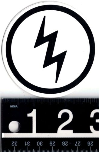 ELECTRIC VISUAL STICKER Electric Surf Skate Snowboard Moto 3 in Round Decal