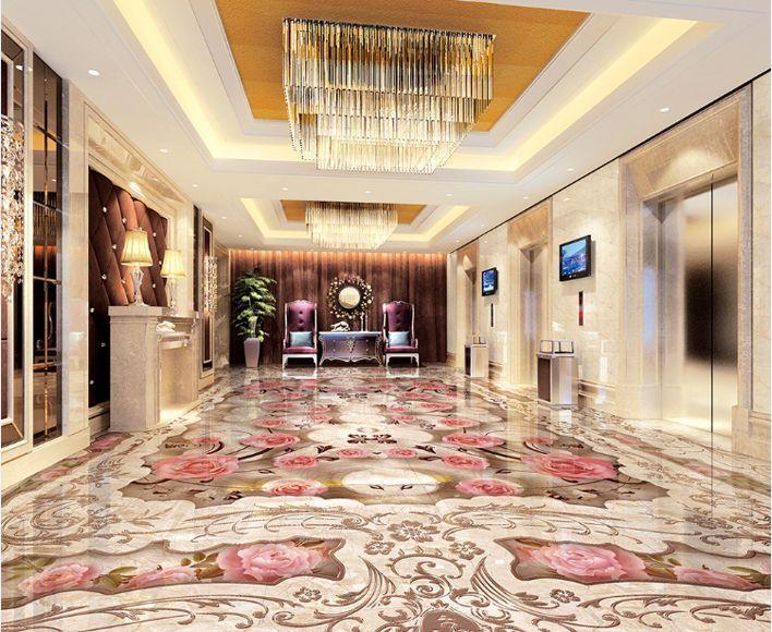 3D Fleurs 5 Fond d'écran étage Peint en Autocollant Autocollant Autocollant Murale Plafond Chambre Art   Respectueux De L'environnement  54d29f