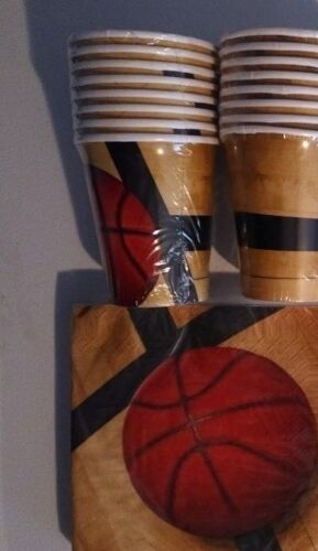 Birthday Party Supply Pack Decoration Kit for 16 BASKETBALL Fanatic