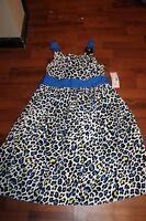 Girls Size 12 Dress By Swak From Sears Blue Black White Dressy