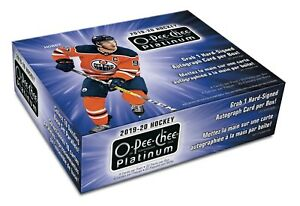 2019/20 Upper Deck O-Pee-Chee Platinum Hockey Hobby Box 20 Packs Per Box, 4 Card