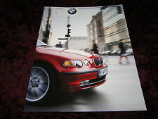 BMW 3 Series Compact Brochure - 2002 -1/2002 Issue - 88 pages