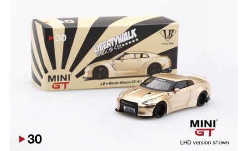Mini GT LB-WORKS Nissan GT-R #MGT00030-MJ Satin Gold R35 1:64