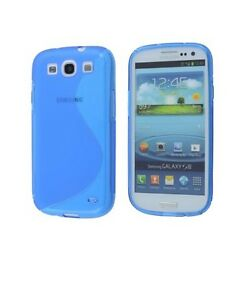 innovative design 2a6fd 59e34 Details about Milkshake Flexi Case for Samsung Galaxy S3 with Screen  Protector - Blue