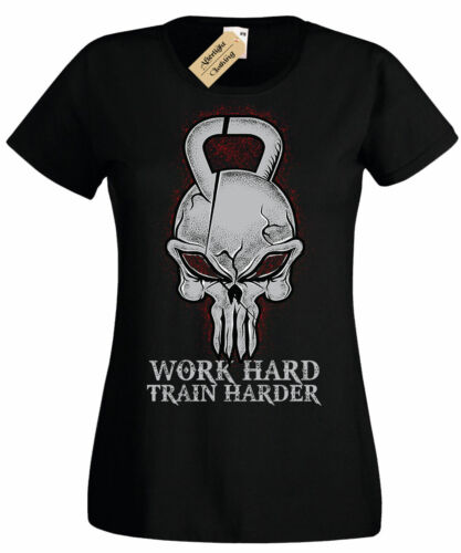 Totenkopf Kugelhantel T-Shirt Wasserkocher Glocke Fitness Bodybuilding Damen