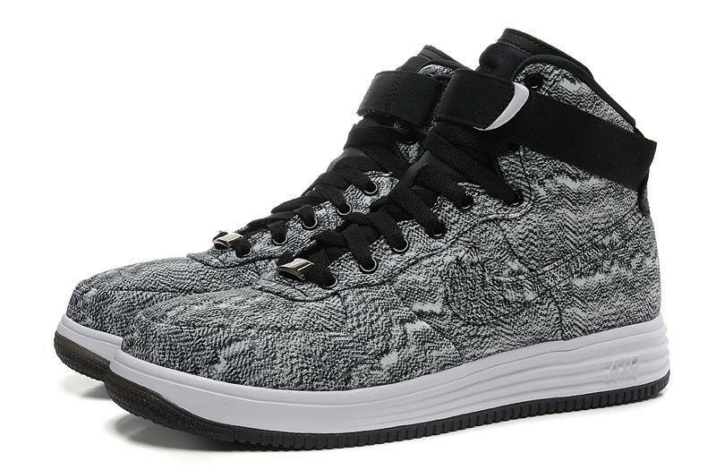 Size 12.5 Men's Nike Lunar Force 1 High Athletic Fashion Sneakers 647902 001