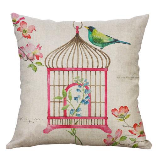 New bird Cushion Cover Sofa Pillow Case printing oil printing Home Decor