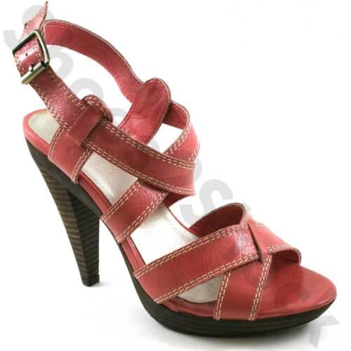 Mesdames sangle plateforme LACEYS CHAUSSURES TAILLE UK 4-7 en cuir rose à bretelles JC Pilar