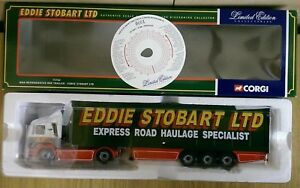 Corgi-75702-MAN-Refridgerated-Box-Trailer-Eddie-Stobart-Ltd-Ed-No-0001-of-4100