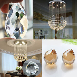 Drilled-Crystal-Beads-Glass-Loose-Transparent-Faceted-Cut-Ceiling-Lamp-Pendant