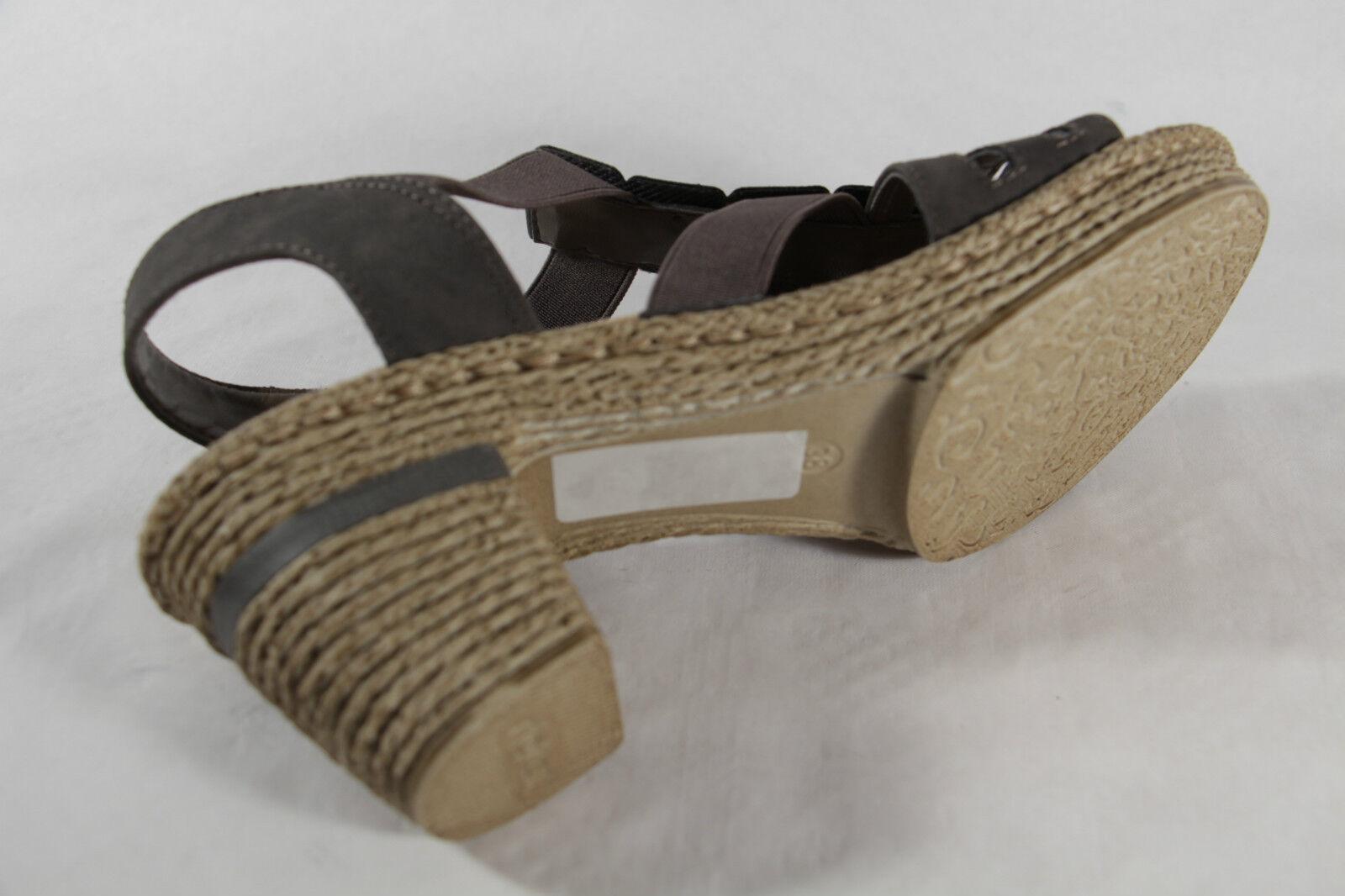 Rieker Damen weiche Sandale grau, weiche Damen Innensohle,  NEU 5b3568