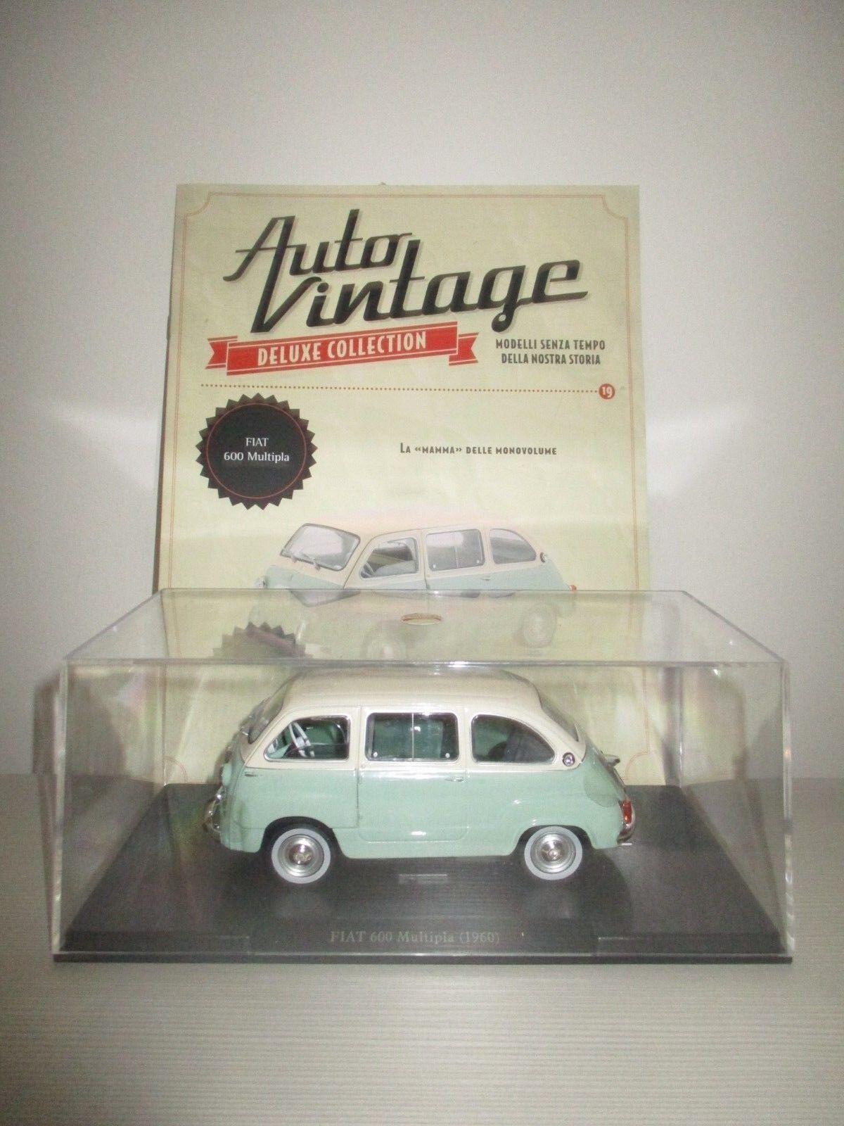 FIAT 600 MULTIPLA 1960 AUTO VINTAGE + FASCICOLO SCALA 1 24