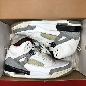 Nike-Air-Jordan-Spizike-White-Cement-Size-10-5-315371-101-Retro-III-IV-V-VI-XI