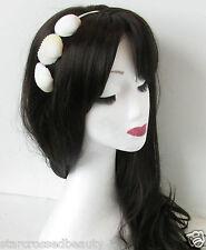 Vrai Mer Coque & Argent Headband Plage Vintage Nuptial Sirène Crème Mariage O41