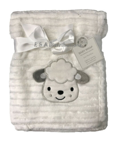 Month Newborn Baby Soft Fleece Blanket Pram Crib Moses Basket Boy Girl Unisex 0