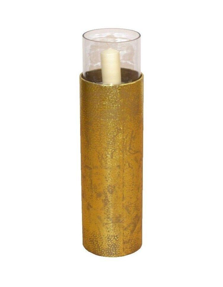 Bodenwindlicht Kerzenhalter Kerzenständer Windlicht Höhe 81 cm Antik-Gold