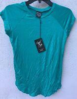 $40 Zara Terez Brand Solid Blue Basic Tee Shirt Girls Size Xl 16