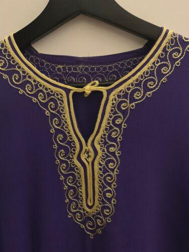 Women Beautiful Morrocan Tunic Caftan Purple 100 %