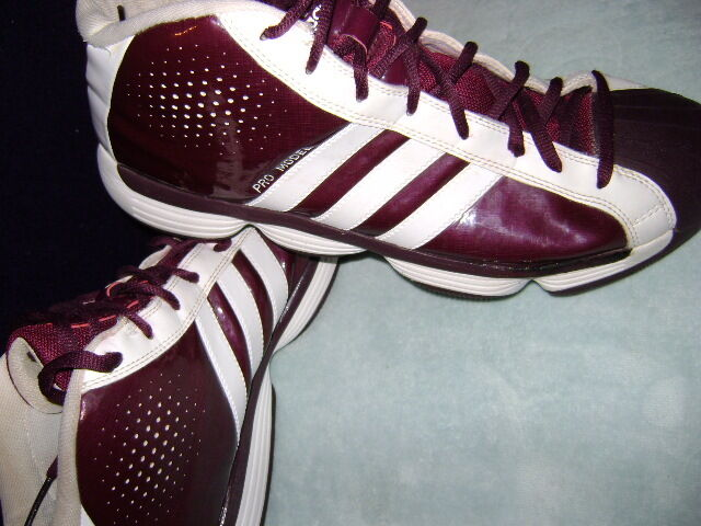 Adidas Pro Model Burgundy White Shoes 102216011   Price reduction New shoes for men and women, limited time discount