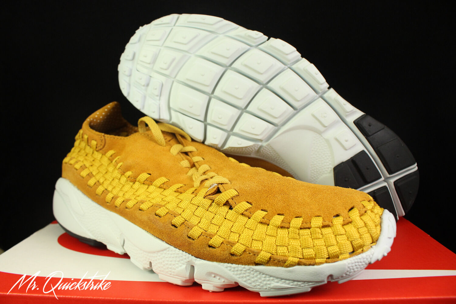 NIKE AIR FOOTSCAPE WOVEN NM SZ 11.5 DESERT OCHRE GOLD DART 875797 700