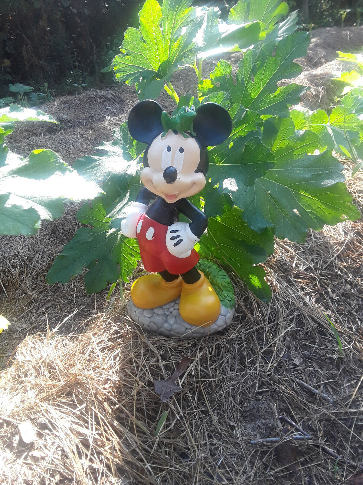 Mickey Mouse Garden Statue Or Home Decor With 10 Frog On Head