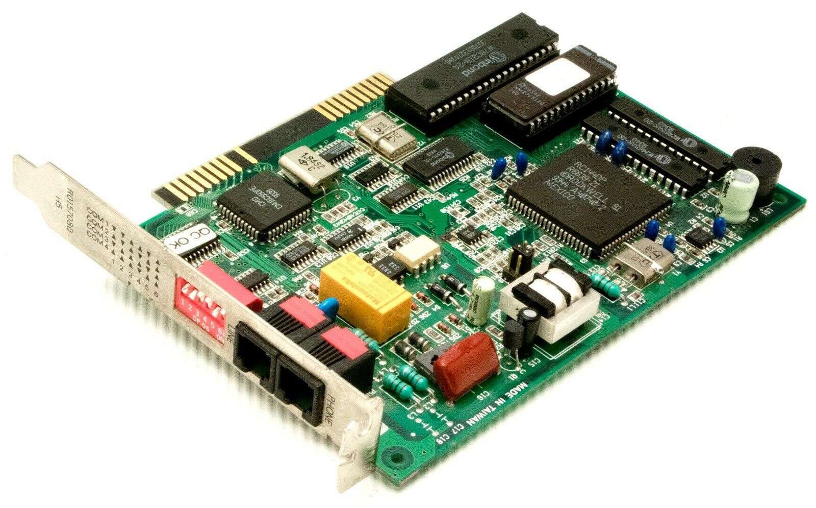 RARE INTEL PCFM7500 309409-002 ISA FAX 56K MODEM VOICE INTERNAL PC COM +MANUAL