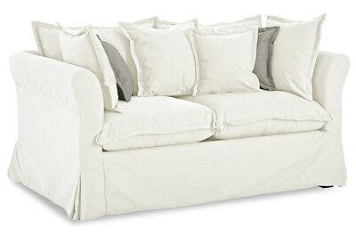 Stolmar 2er-Sofa Luisa - mit Schlaffunktion - Creme - Stoff  Sofa Couch