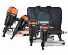 Freeman P4FRFNCB Pneumatic Framing and Finishing 4-Tool Combo Kit with Canvas Bag