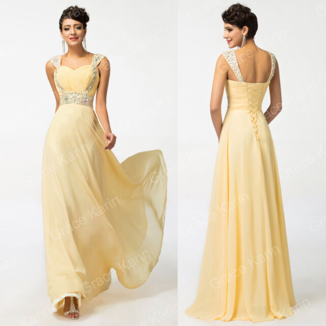Sexy Long Chiffon Wedding Homecoming Formal Gown Ball Party Evening Prom Dresses