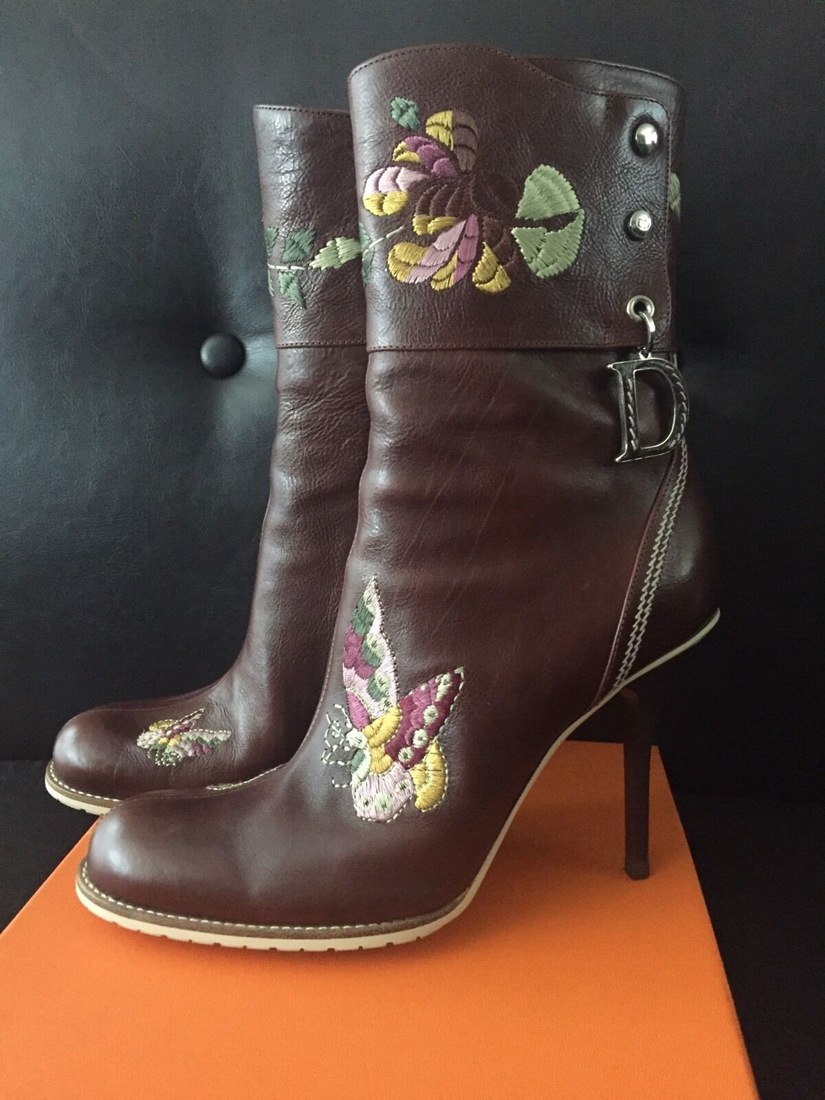 Christian Dior by John Galliano Embroidered Boots NIB (Size 37)