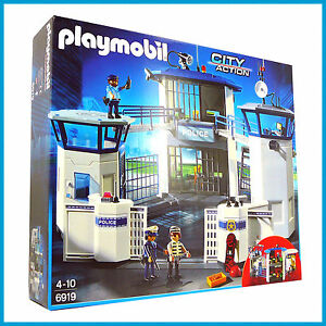 image is loading new playmobil police headquarters station w prison large - Playmobile Police