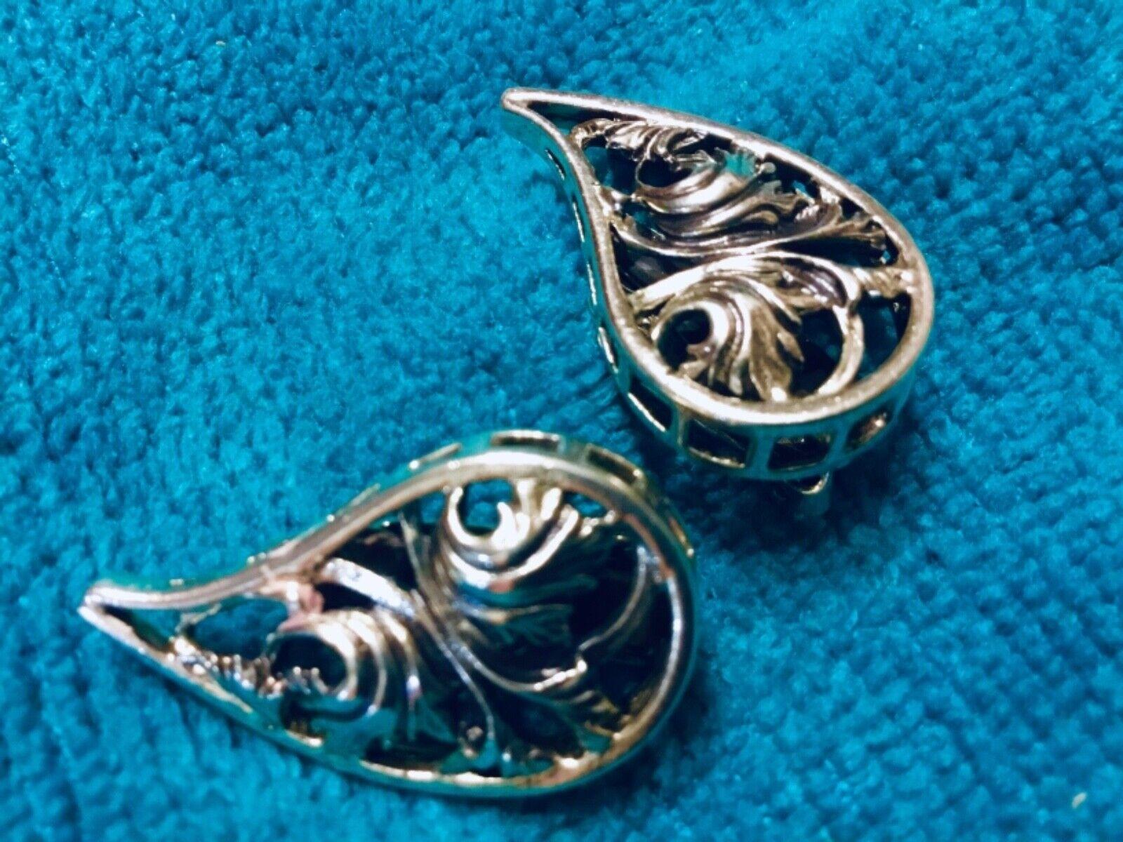 Vtg Sterling Silver Danecraft Clip earrings - image 6
