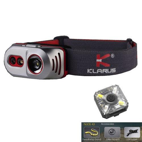 Klarus h1a, luz pre - reCochegable - 550lm, con batería, y un paquete gratuito nu05 LED.