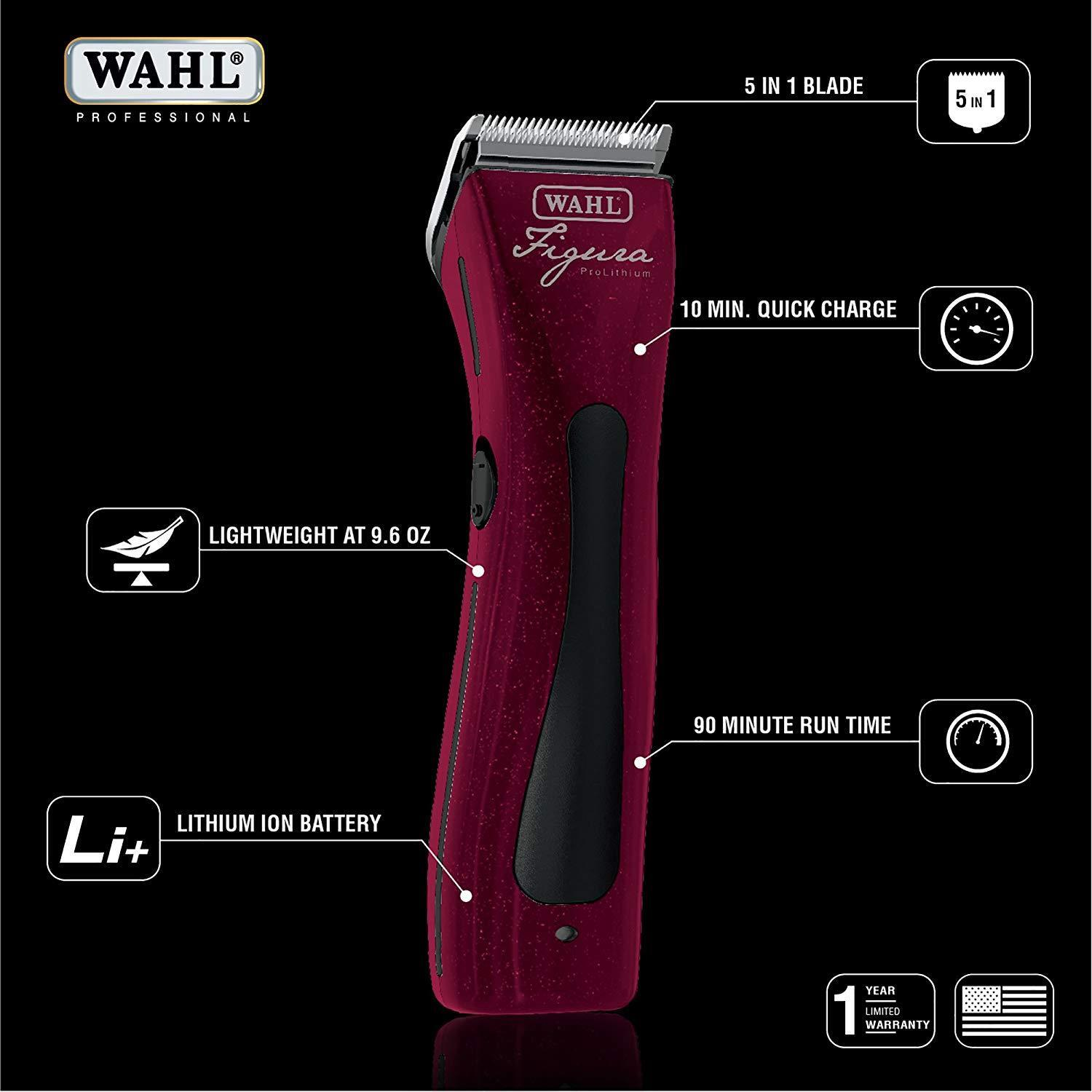 Wahl Figura pro Lithium Ionen Drahtlos Clipper Kit&2 5 in 1 1 in Blade,Combs Tier 9f11fa