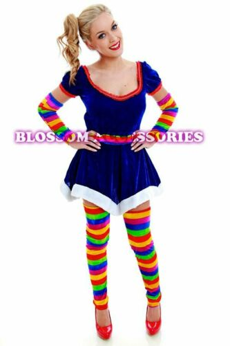 G23 Ladies Rainbow Brite Hero 80s Fancy Dress Up Party Halloween Costume Outfit
