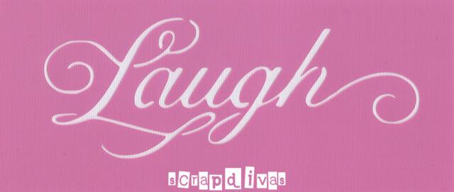 Scrapbooking - STENCILS TEMPLATES MASKS SHEET - Laugh Word Design 315