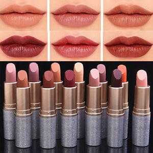 12Colors Korean Nude Makeup Lasting Matte Lipstick Bullet Design Lip Gloss Cream
